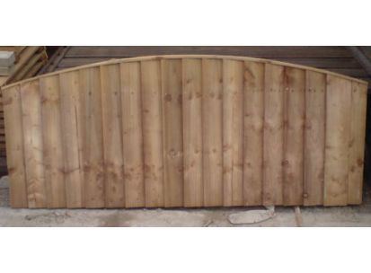 Vertical Bow Top Fence Panels