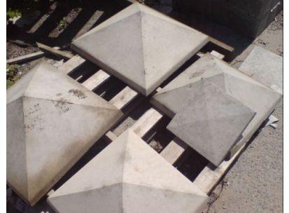 Plain textured concrete Pier Cap